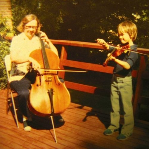 Tom with his Mom, Marilyn Swafford